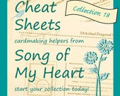 Cheat Sheets #18 Collection: Instant Digital Download cardmaking helpers