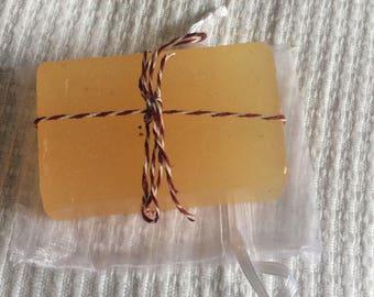 Homemade soap bar, olive oil with subtle orange scent