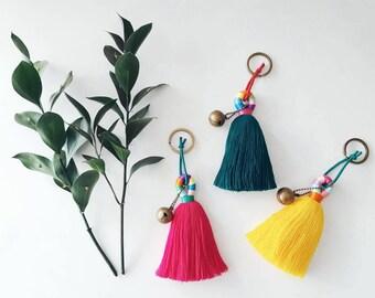 Tassel keychains, Long tassel keychains, Colorful keychains,  Friend gift