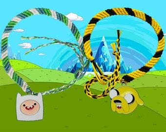 Adventure Time friendship bracelets - Finn & Jake. Free UK Postage!