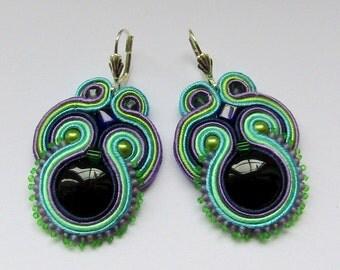 Soutache Earrings Colorful