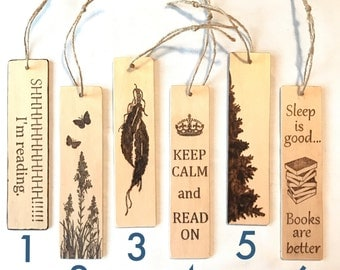 Wooden bookmarks, custom bookmarks, unique bookmarks, reading lovers gift, book accessories, bookmark favors, book lovers gift, teacher gift