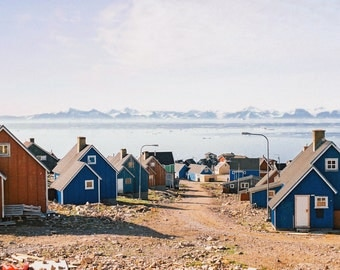 Architecture Photography, Fine Art Photography, Greenlandic Street Scene
