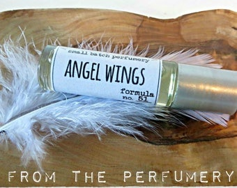 angel wings scent roller-ball perfume formula No. 51 // organic hand-blended crafted w natural scented skin-safe essential oils fragrance