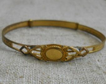 Edwardian era  gold plated bracelet