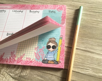 Weekly pad Miss Lily Shades