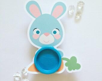 Easter bunnies playdoh cards