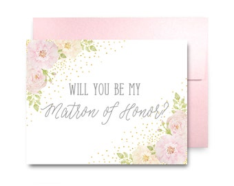 Will You Be My Bridesmaid Card, Bridesmaid Maid of Honor Gift, Will You Be My Maid of Honor, Matron of Honor, Brides Man, Flower Girl #CL134