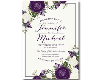 PRINTABLE Wedding Invitation, Wedding Invitation, Printable Invitation, Wedding Invite, DIY Wedding Template, Wedding Printable #CL307
