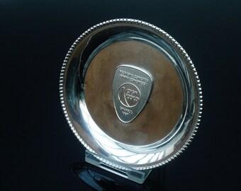 Silver Pin Tray Dish, CIGB ICOLD, Istanbul 1967 Ninth Congress, 800/1000, REF:339H
