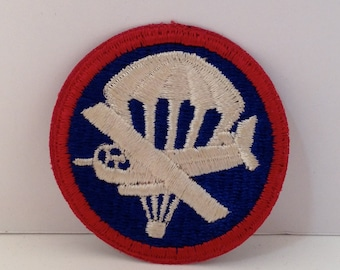 Vintage Parachute Plane Left Facing Army Embroidered Patch