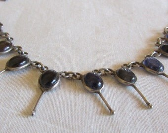 Sterling silver and Blue Stone Necklace