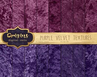 70% OFF - Purple Velvet Digital Paper, panne velvet, crushed velvet textures, digital scrapbooking scrapbook burgundy plum instant download
