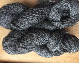 Gotland Yarn- Dark Silver with great luster- 200 yards per skein- Pasture raised, Regenerative Shepherding