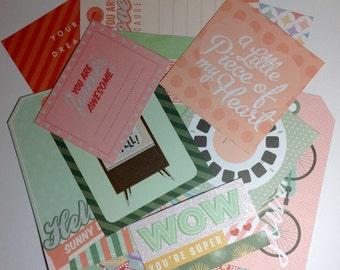 Scrapbook Embellishments  - 13 pieces - Assorted Cardstock diecuts, for , crafts, Scrapbooking, SE0032