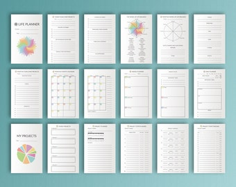 Field Notes Inserts Bullet Journal Printable Life Planner Field Notes Travelers Notebook Inserts Undated Field Note Instant Download PDF