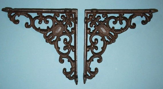 14% OFF 8 Inch Ornate Decorative Shelf Brackets, Free