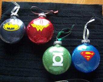 Superhero Christmas Ornament