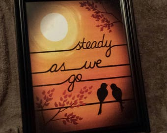 "Dave Matthews Band ""Steady as We Go"" LoVE Birds PRINT - 11""x14"" - Orange - Birds on a Wire - In Stock!"