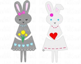 Bunny rabbit girls svg/png/dxf cricut/silhouette digital cutting file/rabbit svg/bunny svg/Easter svg/animal svg/woodland svg/svg cut/HTV