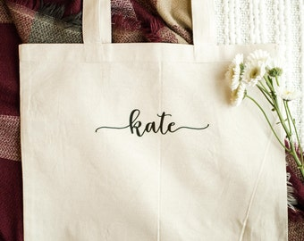 Personalized Bridesmaid Tote Bag - Bridal Tote Bag - Canvas Bag - Custom Tote - Quote Tote Bag - 01