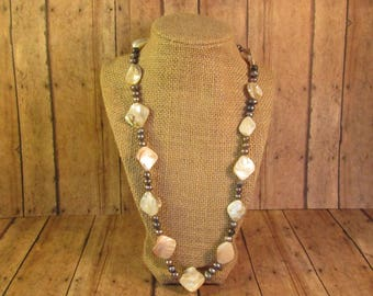Abalone & Fresh Water Pearl Necklace