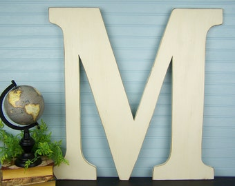 Big Letters Oversized Letters Large Wooden Letter M Letters for Wall Letters for Nursery 24 inch Letters Painted Letters Wood Letters