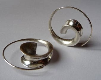 """Spiral Earring """"Classic"""" - silver"""