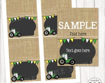 Tractor Food Tents / Printable Tractor Place Cards