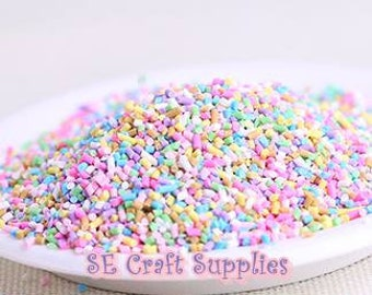 4g 8G 16g Colorful Clay Candy Assorted Color Sprinkles Mix Decoden, Candy, Polymer Clay, dollhouse food,  Miniature Food, Mini
