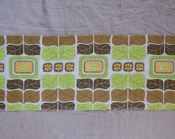 Vintage Unused Polyester Fabric Retro Flower Polyester Fabric