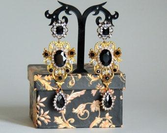 Earrings DOLCE style - Black Diamond