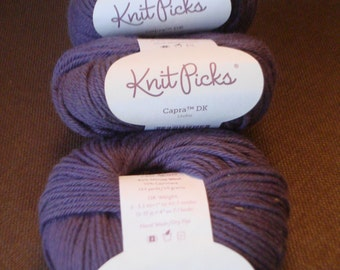 KNIT PICKS Capra DK Yarn, Merino/cashmere blend, Check color quantities available below, Timber and Urchin