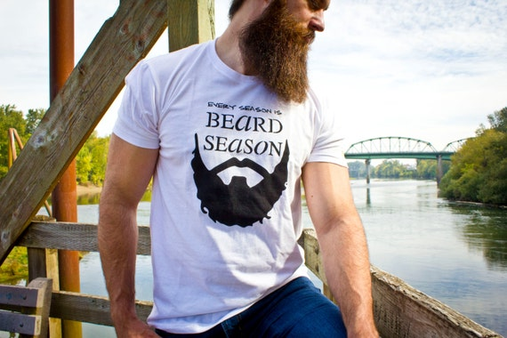 Every Season is Beard Season // Extra Large // Unisex Next Level brand // White in color