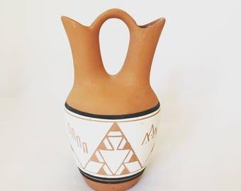 Vintage Terra Cotta Navajo Wedding Vase