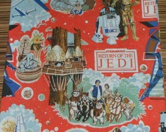 Vintage Rare Orginal Return of the Jedi Cotton Fabric