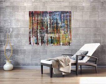 Modern abstract artwork in XXL by Alexander Zerr acrylic on canvas 100x120cm #696