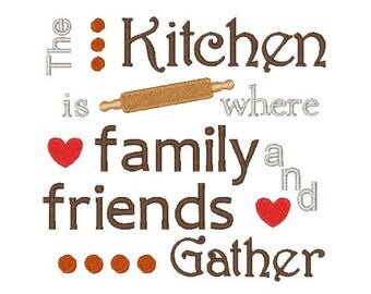 Family and Friends Embroidery Design