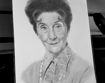 June Brown (Dot Branning) pencil drawing