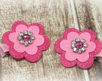 Pink Flower Hair Clip, Pink Flower Clip, Pink Flower Clippie, Pink Hair Clip, Pink Clip, Pink Clippie, Flower Clip, Flower Clippie