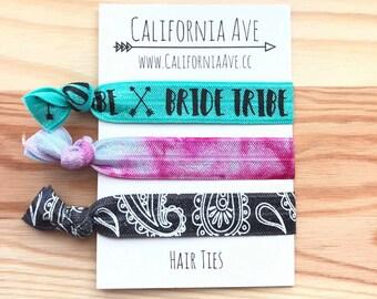 Bride Tribe Hair Tie Set of 3