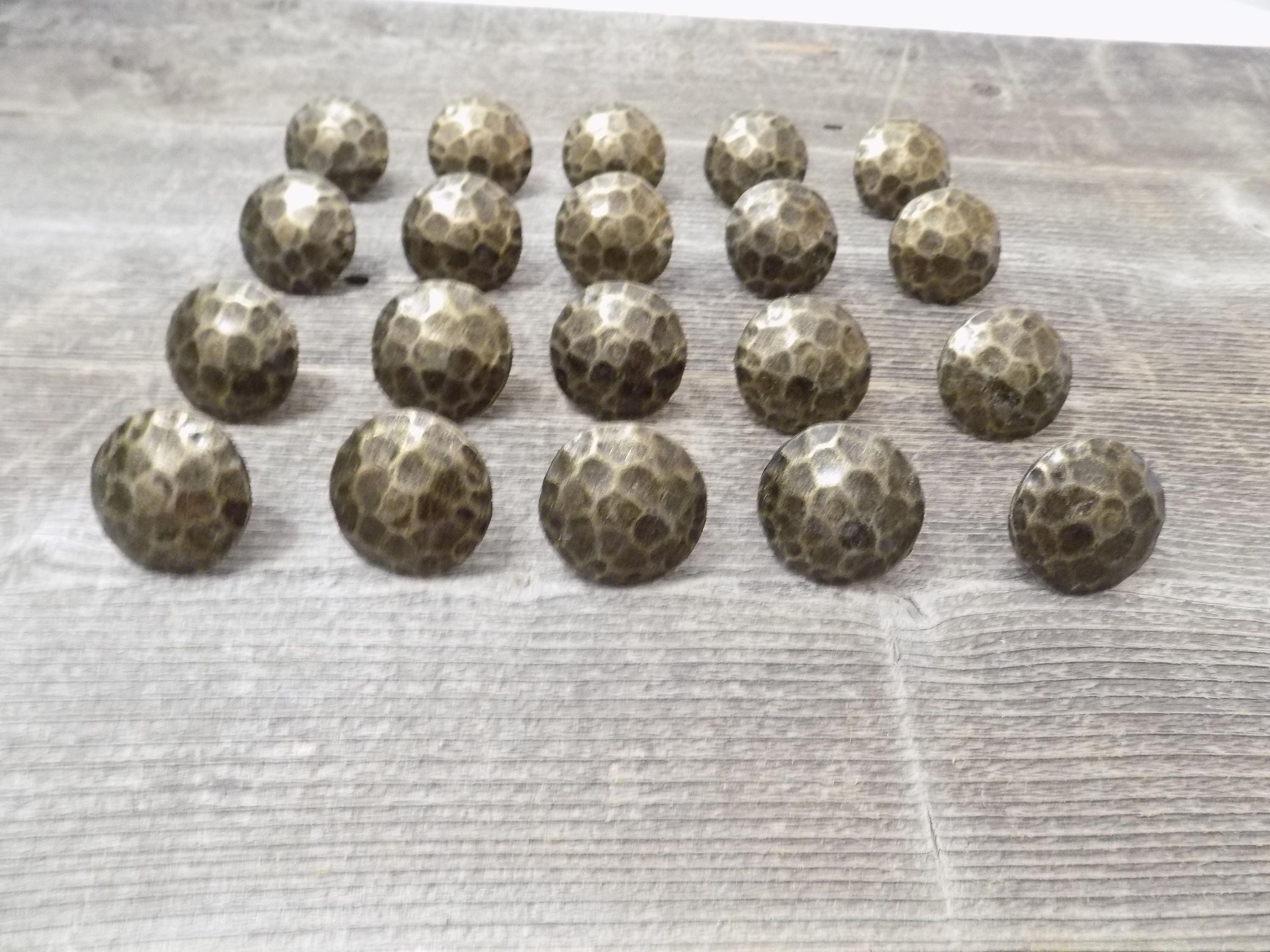 20 Clavos Decorative Nail Heads Rustic Oil Rubbed Worn Brass 1 1/2 ...