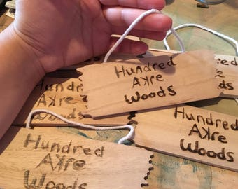 Hundred Acre Woods Winnie The Pooh Hand Lettered Sign