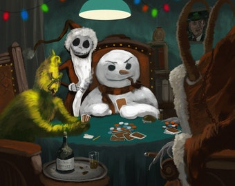 Horrors Playing Poker