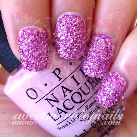 How Does Powder Nail Polish Work: Nail Glitter Light Pink Sparkle Glitter Dust Powder Nail