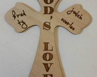 Custom Woodburned Cross