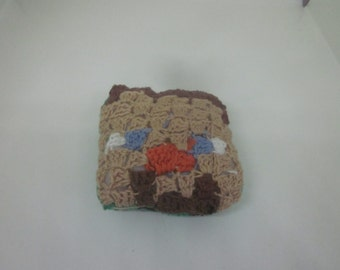 Square soft toy, inspire by minecraft character.