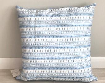 SALE: Blue Geometric Print Cushion Cover by Louise Dean