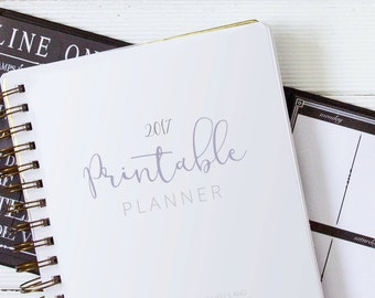 2017 Printable Planner for Bloggers in Lavender
