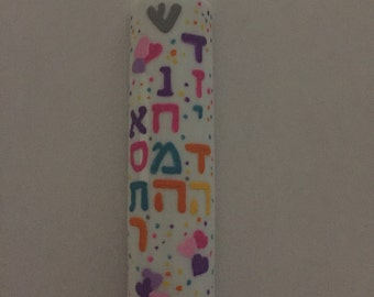 Mezuzah Case Hand Painted customized to your taste